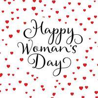 Fond de coeurs de bonne journée des femmes