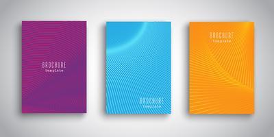 Modèles de brochures avec motifs abstraits vecteur