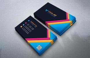 modèle de carte de visite colorée abstraite