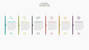 présentation d'infographie moderne en 6 étapes