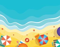 Illustration de vue aérienne de plage vecteur