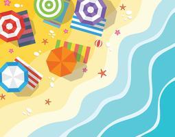 Vue aérienne de la plage vecteur