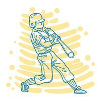 Joueur de baseball abstrait