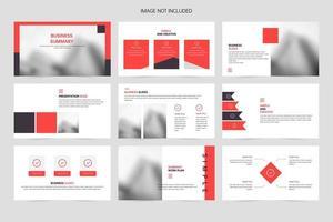 modèle de diapositive de présentation de présentation de promotion de société commerciale rouge vecteur