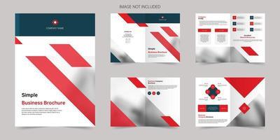 conception de modèle de brochure propre