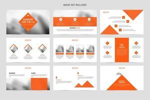 diapositives de présentation d'entreprise vecteur