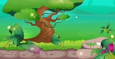 illustration vectorielle de jungle plat couleur vecteur