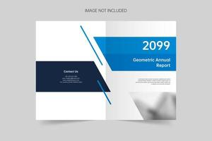 modèle de couverture de brochure géométrique créative