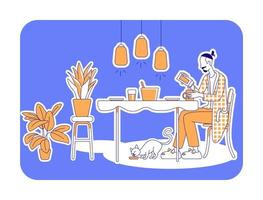 préparer illustration vectorielle de repas silhouette plate vecteur