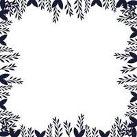 icône de cadre sec branches automne vecteur
