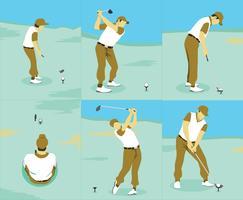 Vecteur de techniques de golf