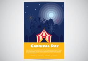Affiche de carnaval Illustration plat vecteur