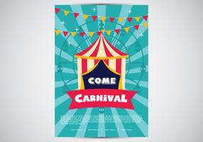 Affiche de carnaval rétro vecteur