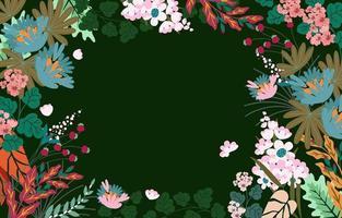 fond de printemps floral avec des fleurs en fleurs