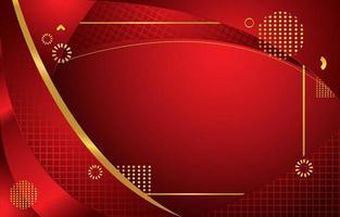 fond rouge avec combinaison de couleurs or