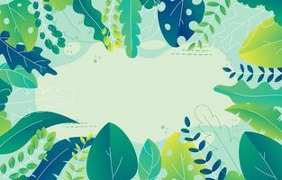 beau fond de feuilles vertes vecteur