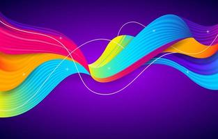 fond de vagues colorées vecteur