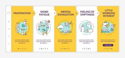 modèle de vecteur d'intégration de burnout. employé paresseux. épuisement mental. sensation de vide. fatigue au travail.