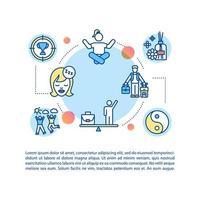 icône de concept d'activités récréatives avec texte. vacances. équilibre vie-travail. loisirs, détente.