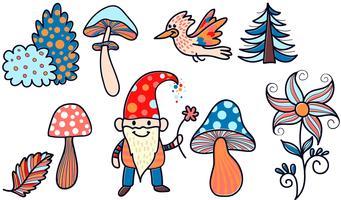 Vecteurs magiques de jardin vecteur