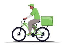 livraison de colis à domicile illustration vectorielle de couleur rgb semi-plat vecteur