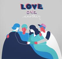 Love One Another Citation Conception de typographie vecteur