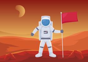 Vecteurs de paysage martien unique