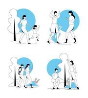 scènes de personnes pratiquant l & # 39; exercice