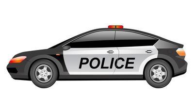 illustration vectorielle de police patrouille voiture dessin animé
