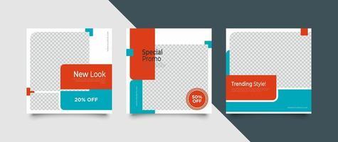 modèle de publication de médias sociaux de promotion moderne