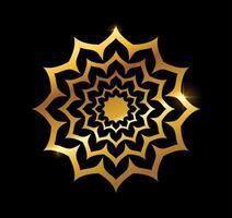 signe de vecteur de mandala doré or