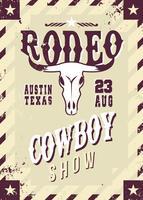 Rodeo Flyer Wild Western Template vecteur