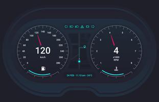 Interface utilisateur HUD et éléments infographiques vecteur