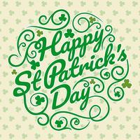 Bonne journée de la Saint-Patrick vecteur