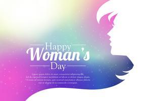 Carte internationale de la fête des femmes vecteur