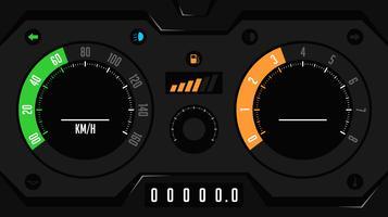 Vecteur de l'interface utilisateur du tableau de bord voiture futuriste
