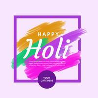 Fond de vecteur Holi heureux