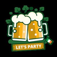 Sticker bière de la St Patrick vecteur