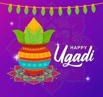 Carte de voeux Ugadi heureux