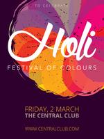 Affiche du Festival Holi vecteur