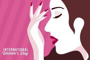 Vecteur de la journée internationale de la femme