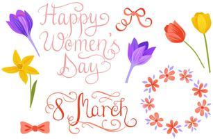 Vecteurs de la journée des femmes