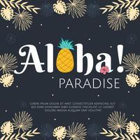 vecteur de paradis aloha