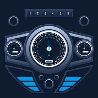Vecteur de l'interface utilisateur du tableau de bord voiture moderne