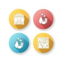 mouvements culturels design plat grandissime jeu d'icônes de glyphe vecteur