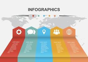 modèle de conception infographique avec des flèches de perspective vecteur