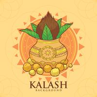 Illustration de kalash de cuivre vecteur