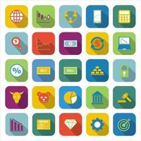 icônes de couleur forex avec ombre portée