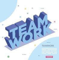 lettrage d & # 39; icône isolé de travail d & # 39; équipe