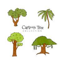 Collection d'arbre de dessin animé mignon vecteur